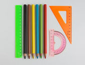 Rulers and pencils — Photo