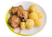 Potatis och kyckling — Stockfoto