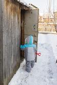 冬天的男孩 — 图库照片