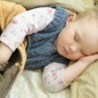 Foto Stock: Sleeping boy