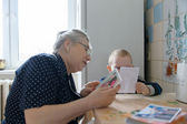 Nonna e nipote — Foto Stock