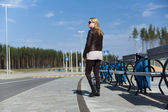 Girl in sunglass — Stock Photo