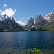 Jenny Lake Deep Blue - Stock Photo