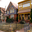 Downtown Denver Residential Houses - Stock Photo