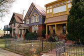 Downtown Denver Residential Houses — Stock Photo