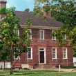 Colonial Williamsburg Virginia Red Brick Building — Stock Photo