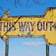 This Way Out Sign — Stock Photo