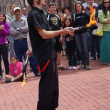Fire Juggler on Boulder Pearl Street Mall — Stock Photo