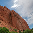 Stock Photo: Pulpit Rock and Cathedral Spires at Garden of Gods