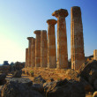 Temple of Hercules - Argigento, Sicily - Stok fotoraf