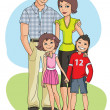 Stock Vector: Family