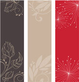 Set of floral patterns — Stock Vector