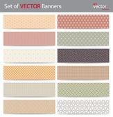 Vector banners — Stock Vector
