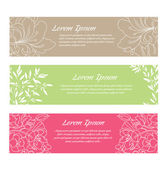 Set of floral cards — Stock Vector