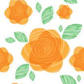 Orange flowers pattern — Stock Vector