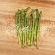 Grilled asparagus and parmesan cheese. — Stock Photo #51462093