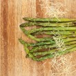 Grilled asparagus and parmesan cheese. — Stock Photo #51462701