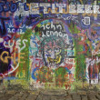 Lennon Wall Prague — Stock Photo