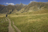 Hiking in among the Mountains - New Zealand — Foto de Stock