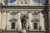 Crowned Madonna at Salzburg Cathederal — Foto Stock