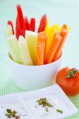 Crudites - vegetable sticks — Stock Photo