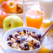 Healthy breakfast muesli with blueberries — Stock Photo #18239993