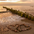 Foto Stock: Romance at beach