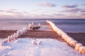 Winter in the Baltic Sea , Poland — Stock Photo