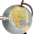 Globe with magnifying glass — Stock Photo #18143443
