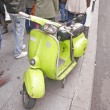 Stock Photo: Green vintage scooter