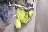Green vintage scooter — Stock Photo