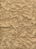 Crumpled kraft paper — Stock Photo