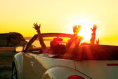 Cabriolet sunset — Stock Photo