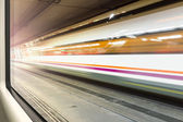 Motion blur train — Stock Photo