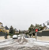 Zasněžené ulice — Stock fotografie