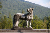 памятник охотничья собака. — Стоковое фото