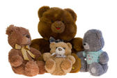 A lot of toy teddy bears together. — Stock Photo
