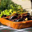 Mussels on the plate — Stock Photo #31348279