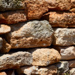 The ancient wall that archaeologists have found. — Stock Photo