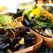 Mussels on the plate — Stock Photo