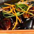 Mussels on the plate — Stock Photo #31653951