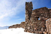 Ruins of the fortress in the snow — Photo