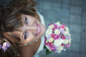 Closeup portrait of beautiful bride - soft focus — Stock Photo