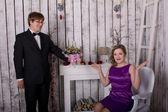 Man proposes marriage woman — Stock Photo