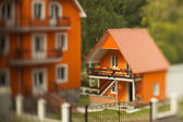 Orange house — Stock Photo