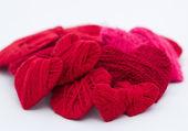 Rood hart op een witte achtergrond — Stockfoto