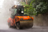Road rollers for asphalt — Stock Photo