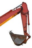 Excavator bucket on white background isolated — Stock Photo