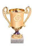 Gouden trofee cup — Stockfoto