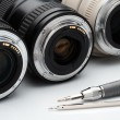 Foto Stock: Lenses